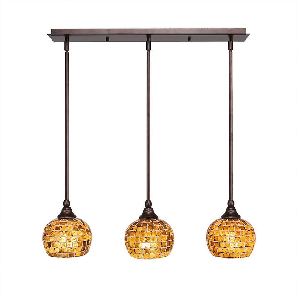 Cambridge 3-Light Bronze Island Pendant