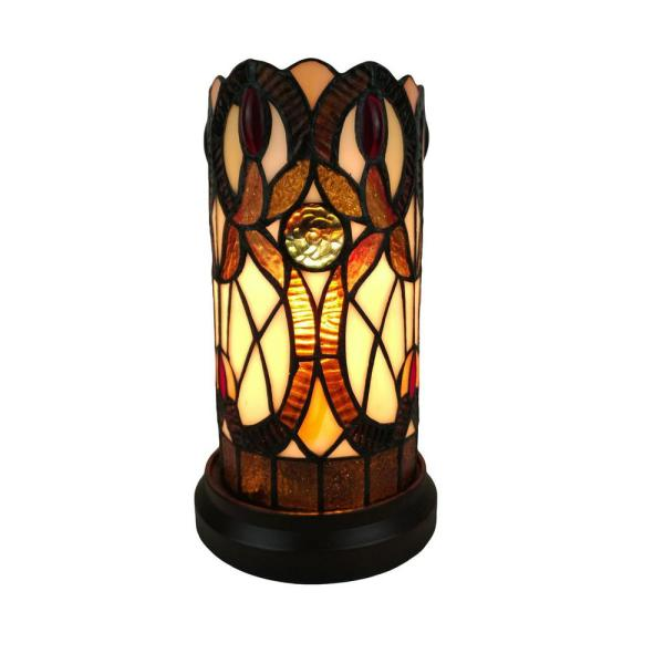 11 in. Multi-Colored Tiffany Style Accent Table Lamp