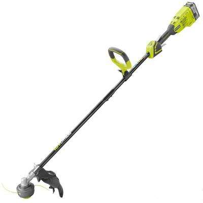 Reconditioned ONE+ 18-Volt Lithium-Ion Brushless Cordless Electric String Trimmer - 4.0 Ah Battery and Charger Included