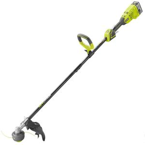 Reconditioned ONE+ 18-Volt Lithium-Ion Brushless Cordless Electric String Trimmer - 4.0 Ah Battery and... by