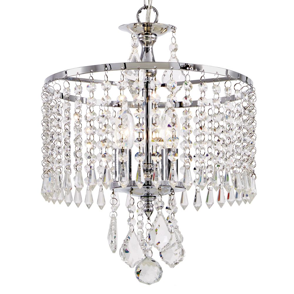 Home Decorators Collection 3-Light Polished Chrome Mini-Chandelier ...