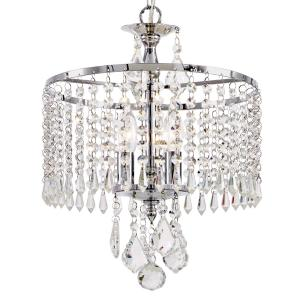 Home Decorators Collection 3-Light Polished Chrome Mini-Chandelier with K9 Hanging... by Home Decorators Collection