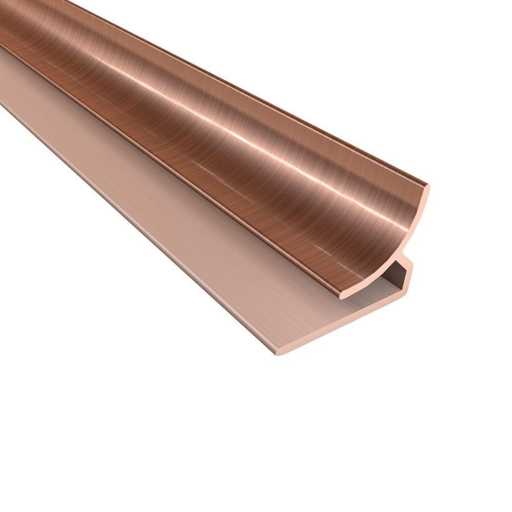 Fasade 18 in. Inside Corner Trim in Polished Copper