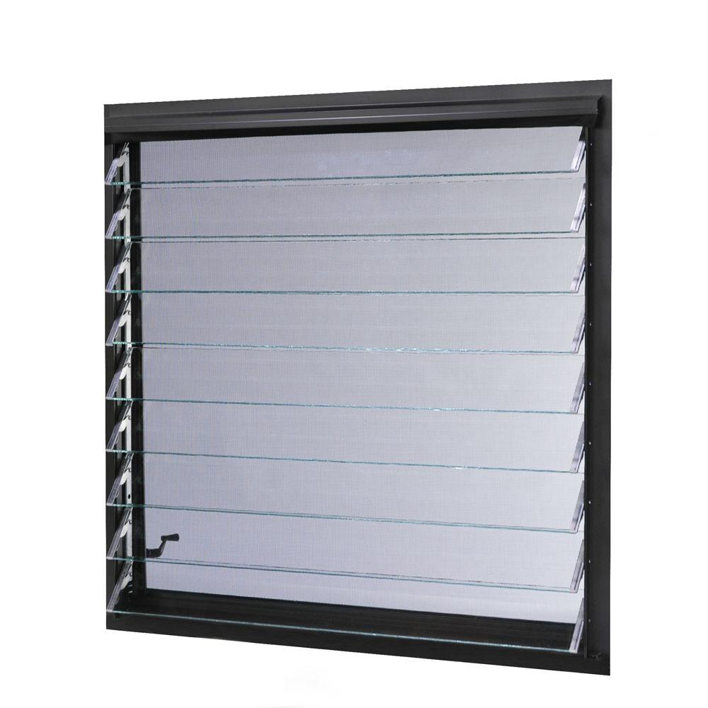TAFCO WINDOWS 36 in. x 34.87 in. Jalousie Utility Louver Awning ...