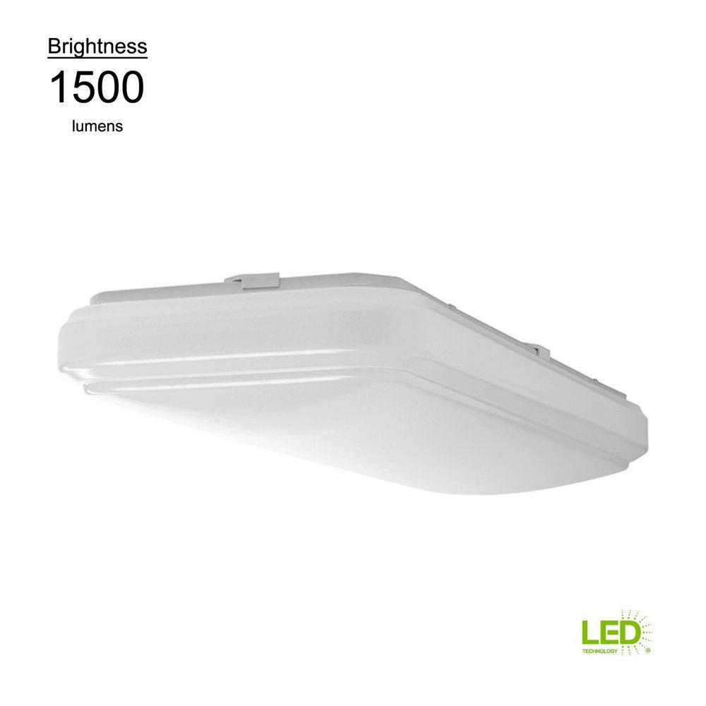 1 X 2 Led Light Fixture: Hampton Bay 2 Ft. X 1 Ft. Bright White Rectangular LED