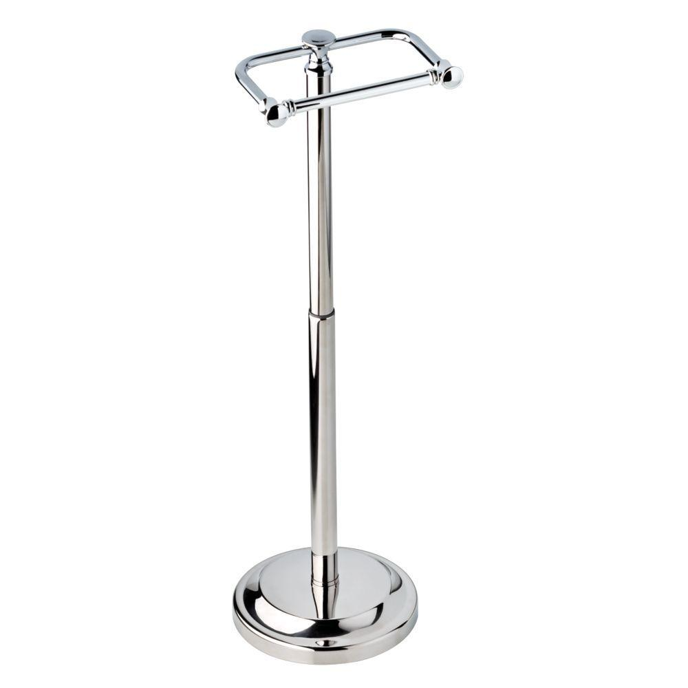 Delta Silverton Telescoping Free Standing Toilet Paper Holder In Chrome