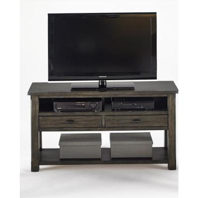 Crossroads 53 in. Smokey Gray Wood TV Stand with 2 Drawer Fits TVs Up to 55 in. with Cable Management