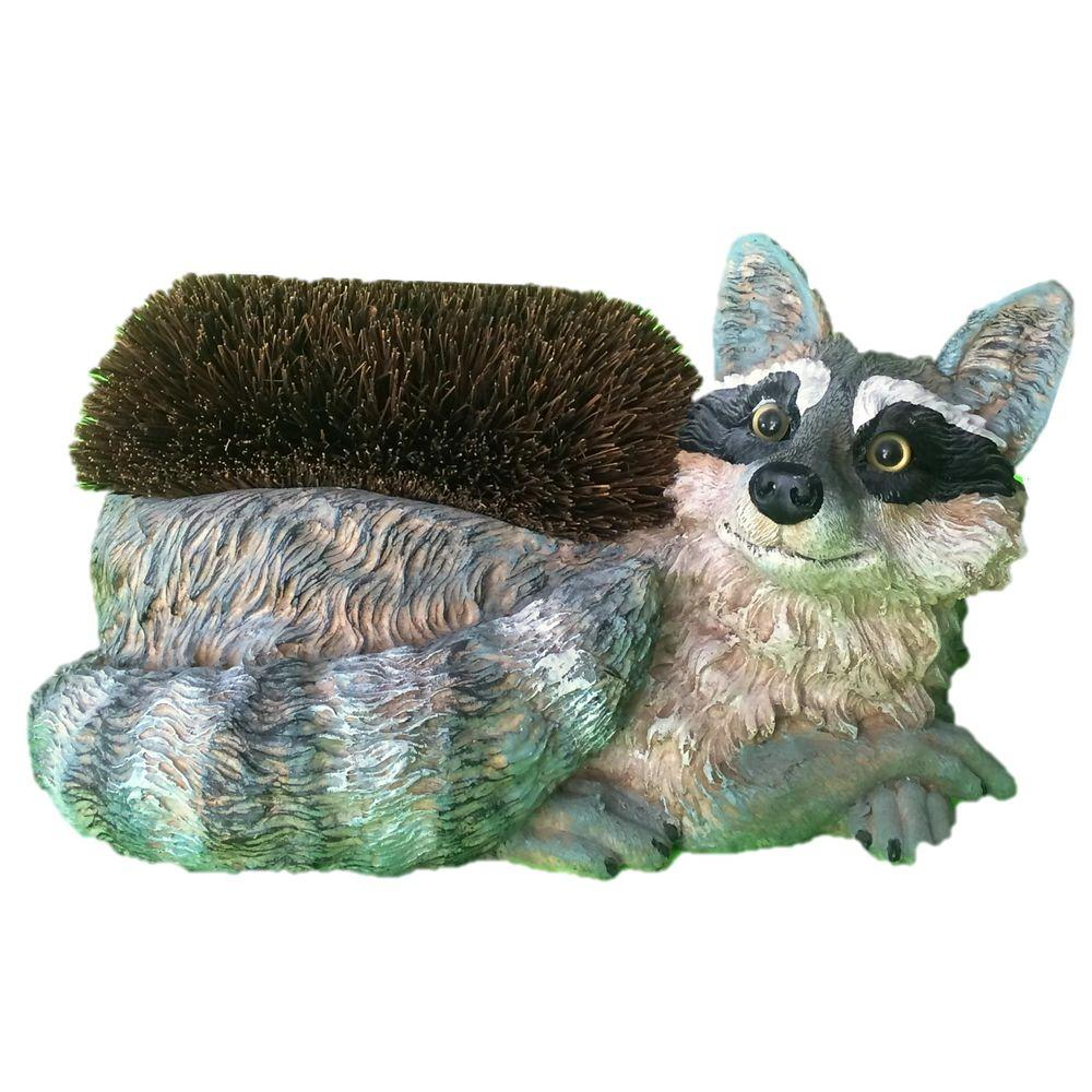 14 in. Raccoon Boot Brush with Replaceable Brush Home and Garden