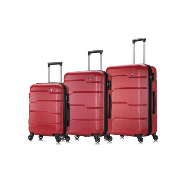 DUKAP Rodez 20 in./24 in./28 in. Red Lightweight Hardside (3-Piece) DKRODSML-RED