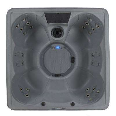 Siesta 6-Person 70 Stainless Jet 240-Volt Hot Tub with Real stainless steel Heater, ozone and Built-in Ice Bucket