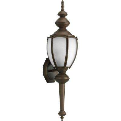 Roman Coach Collection Wall Mount 19.6 in. Outdoor Antique Bronze Wall Lantern Sconce