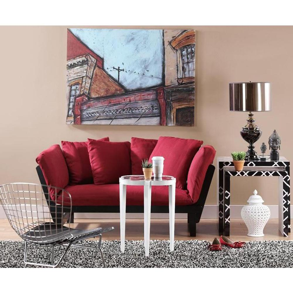Home Decorators Collection Mission Style Black Wine Convertible Lounge