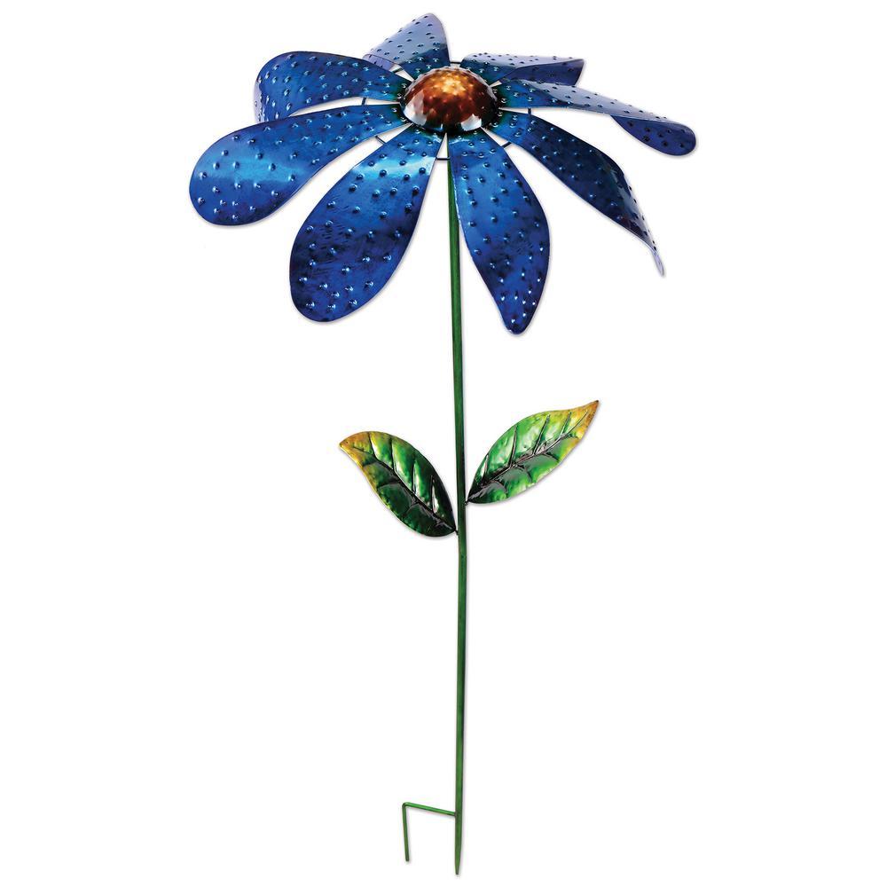 48 in. Metal Blue Daisy Spinner