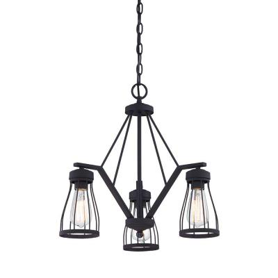 Brooklyn 3-Light Bronze Chandelier