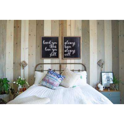 """21.5 in. H x 17.5 in. W """"Love You Duos"""" by KDM Framed Printed Wall Art"""