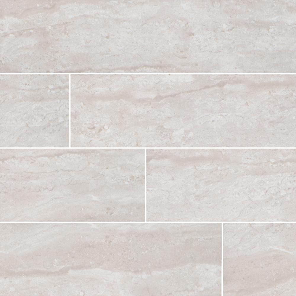 Msi Classique Gris Travertine 4 In X 16 In Glossy Ceramic Wall Tile 11 11 Sq Ft Case Ngritraglo4x16 The Home Depot