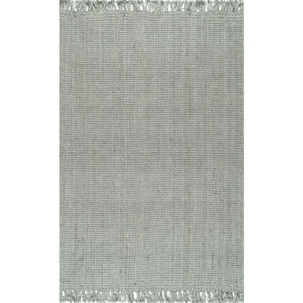 Natura Chunky Loop Jute Gray 5 ft. x 8 ft. Area Rug