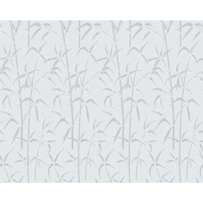 Bamboo 26 in. W x 59 in. L  Home Decor Static Cling Window Film