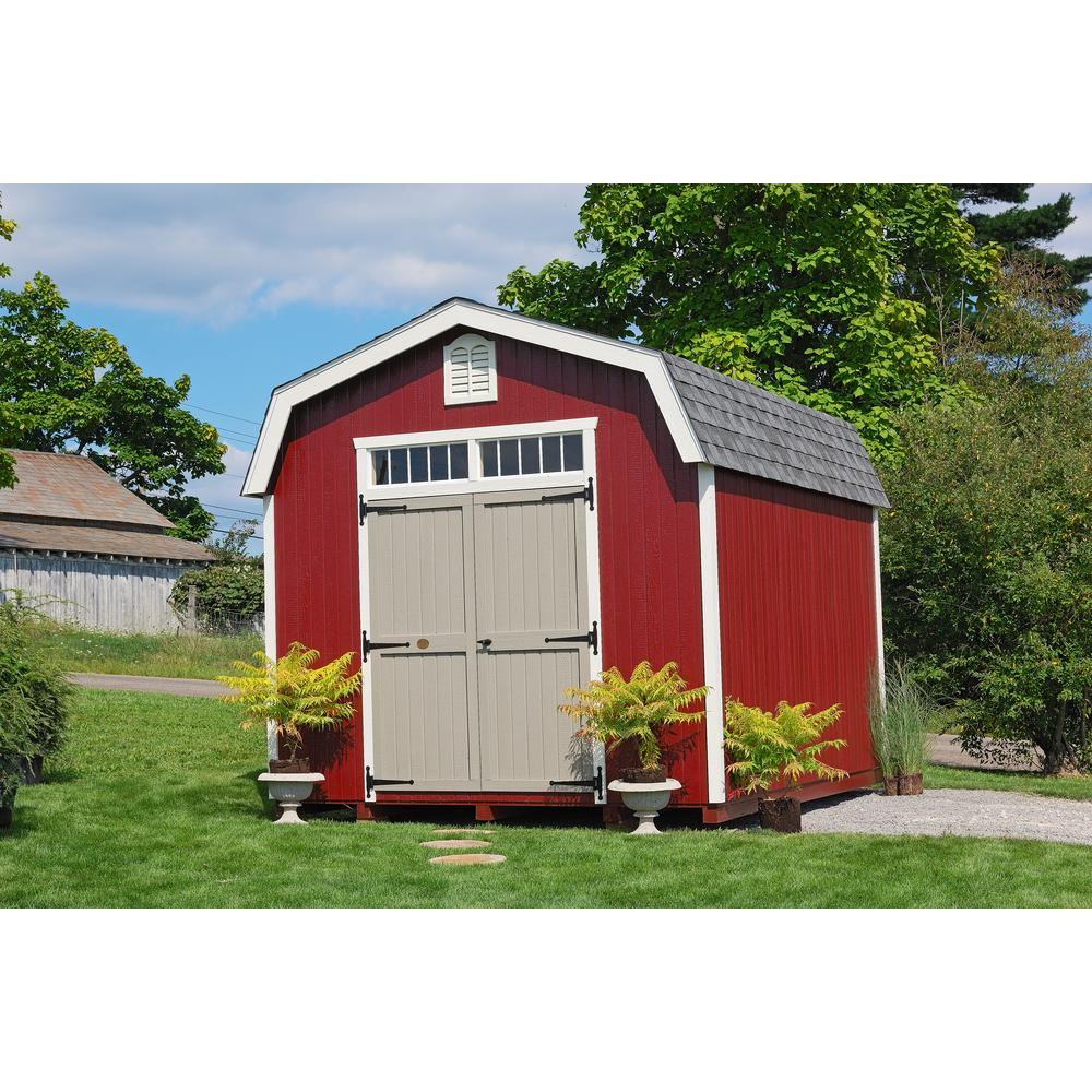 Little Cottage Co Colonial Woodbury 10 Ft X 12 Ft Wood Storage Building Diy Kit With 6 Ft Sidewalls With Floor 10x12 Wbcgs Wpnk Fk The Home Depot