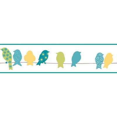 Bistro 750 Bird On A Wire Wallpaper Border