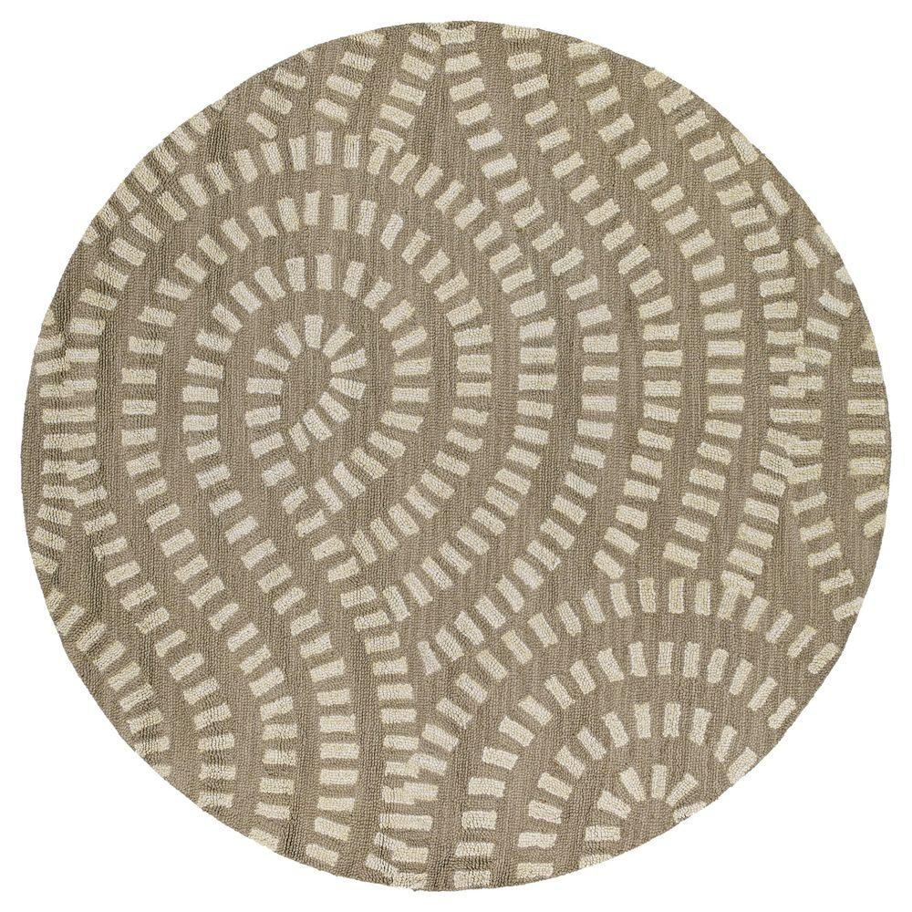 Kaleen Carriage Traffic Nutmeg 7 ft. 9 in. x 7 ft. 9 in. Round Area Rug