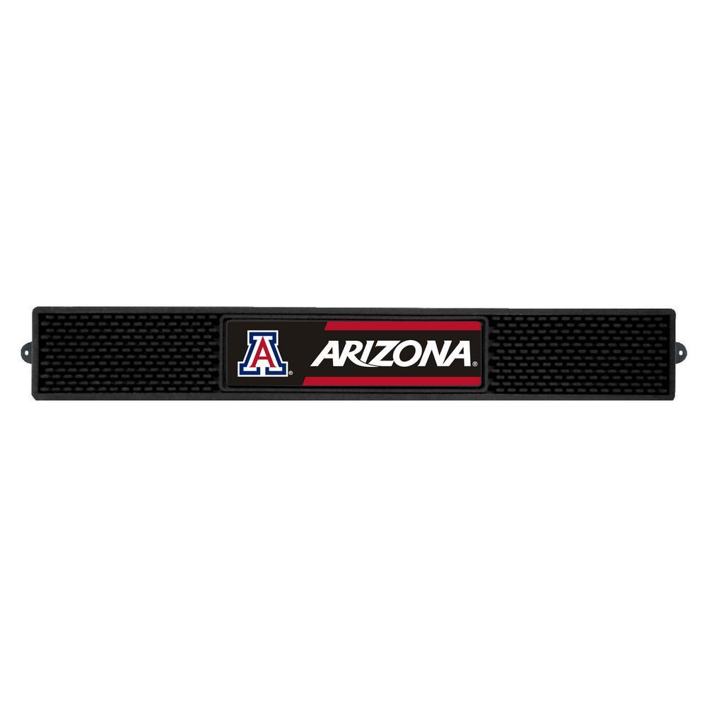 NCAA- 3.25 in. x 24 in. Black University of Arizona Drink Mat
