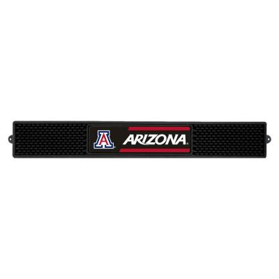 NCAA- 3.25 in. x 24 in. Black University of Arizona Drink Mat