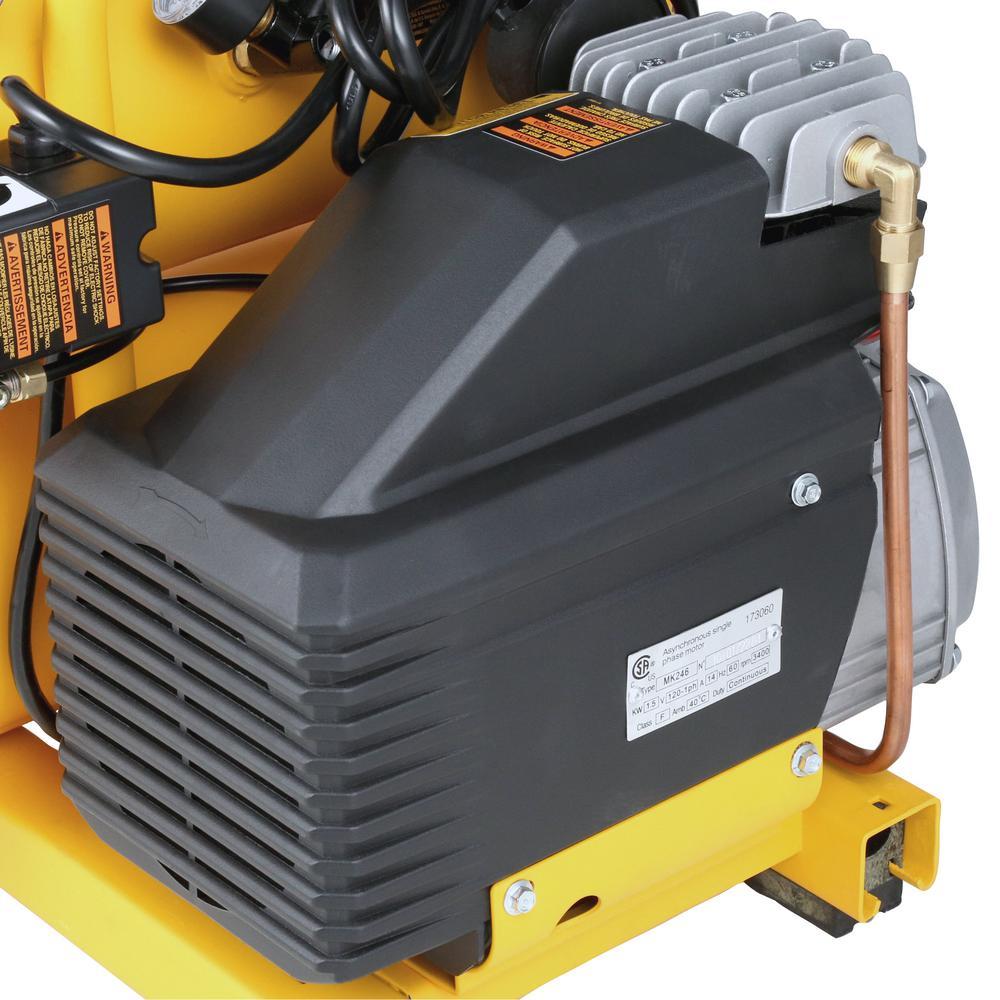 Grip-Rite GR2540LR 2HP 4 Gallon 1725 RPM Compressor with Wheel Kit