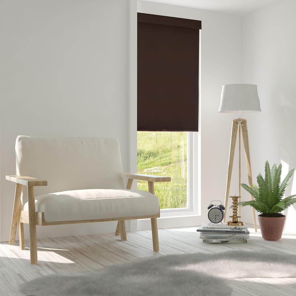 Free-Stop Cordless Roller Shade / Blind Curtain Drape, No Tug, Thermal / Kid Friendly Child Safe - Room Darkening Fabric