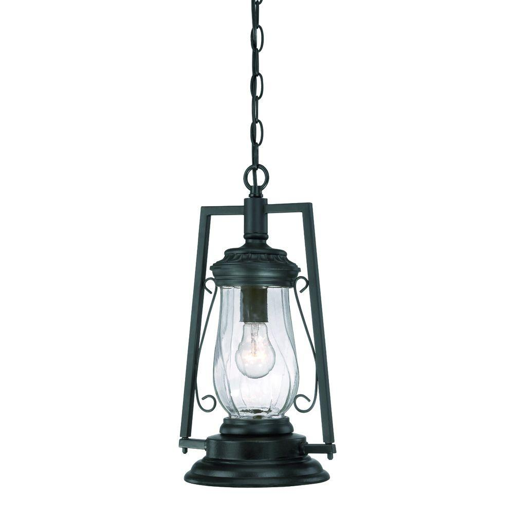 Acclaim Lighting Kero Collection 1 Light Matte Black Outdoor Hanging Lantern Light Fixture 3496bk The Home Depot