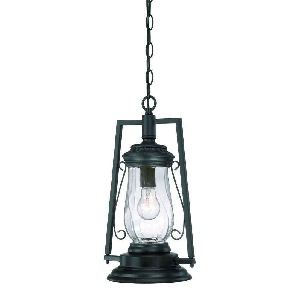 Acclaim Lighting Kero Collection 1 Light Matte Black Outdoor Hanging Lantern Fixture