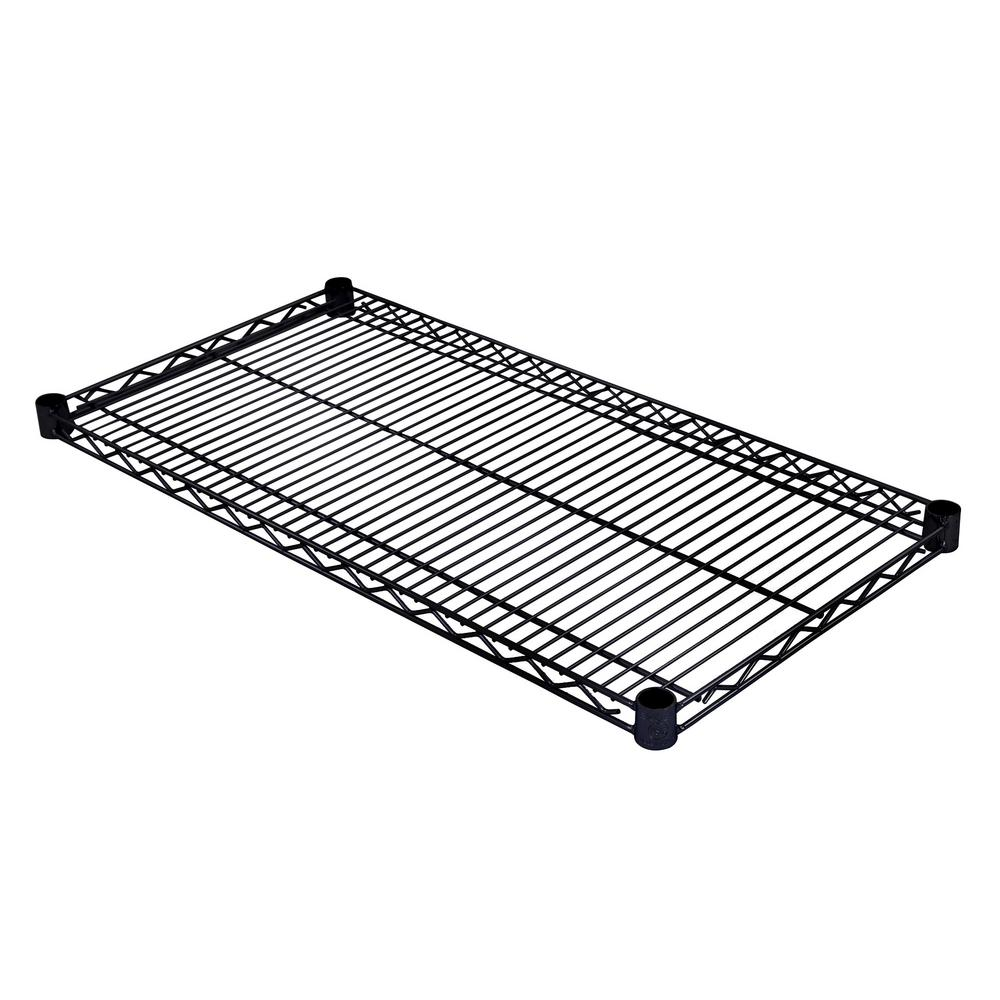 excel 36 in  w x 18 in  d individual nsf wire shelf in black-es-3618p