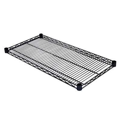 36 in. W x 18 in. D Individual NSF Wire Shelf in Black
