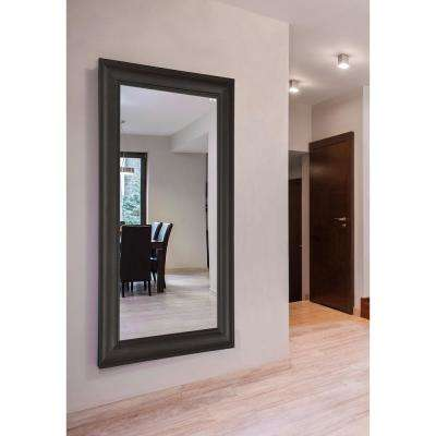 69.5 in. x 34.5 in. Brazilian Walnut Double Vanity Wall Mirror