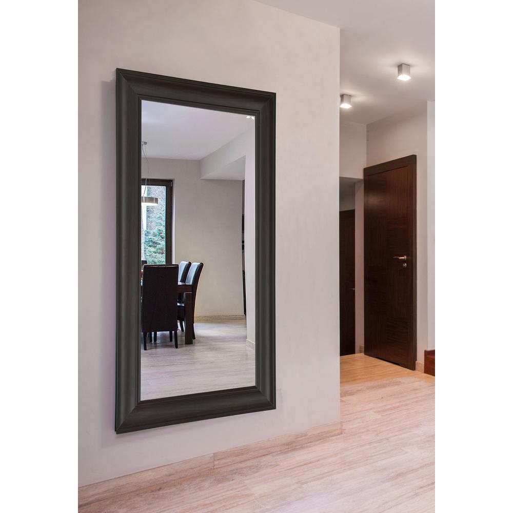 Oversized Rectangle Dark Walnut Modern Mirror (71.5 in. H x 38.5 in. W)