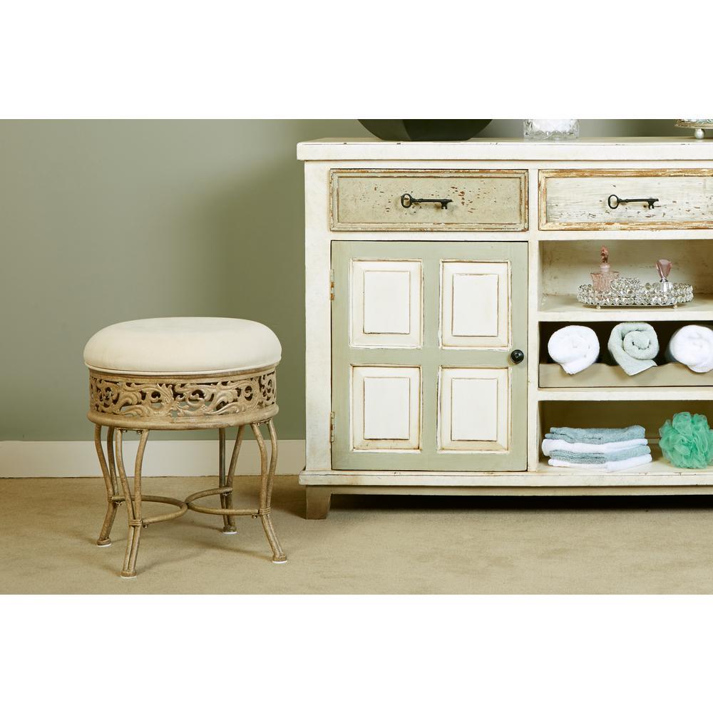 Hillsdale Furniture Villa Iii Beige Vanity Stool 50931