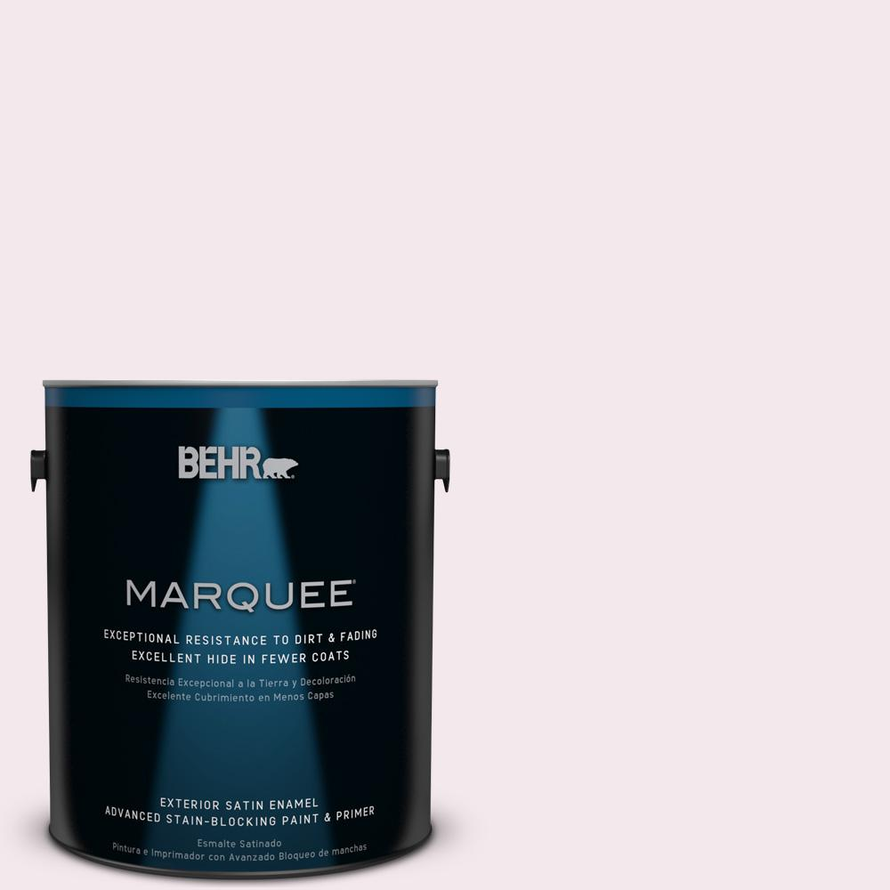 BEHR MARQUEE 1-gal. #100A-1 Barely Pink Satin Enamel Exterior Paint