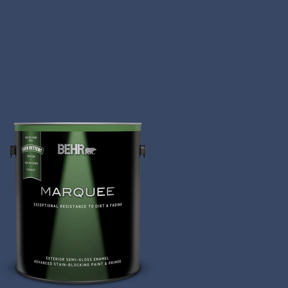 Behr Marquee 1 Gal Mq5 14 Bon Nuit Semi Gloss Enamel Exterior Paint And Primer In One 545301 The Home Depot