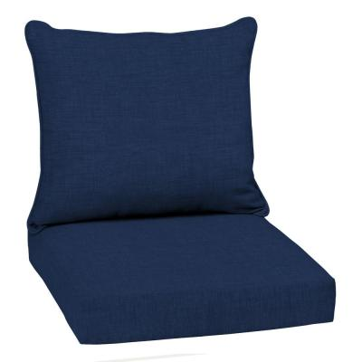 22 in. x 19 in. Sapphire Leala Texture 2-Piece Deep Seating Outdoor Lounge Chair Cushion