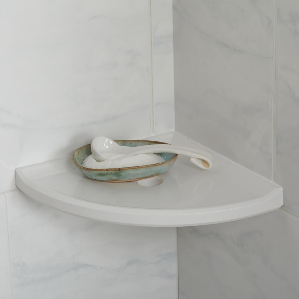 Daltile Restore 8 In W Resin Wall Mounted Corner Shower Shelf Tile In White Re15ba580cc1p The Home Depot,Furnishing A New Home