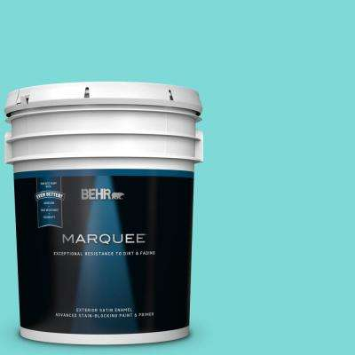 5 gal. #MQ4-22 Key Largo Satin Enamel Exterior Paint and Primer in One