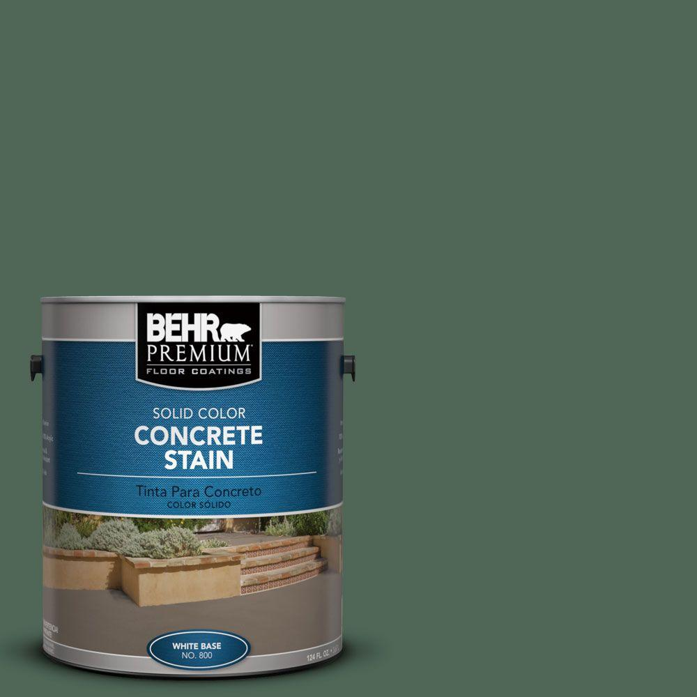 1 gal. #PFC-40 Green Solid Color Concrete Stain