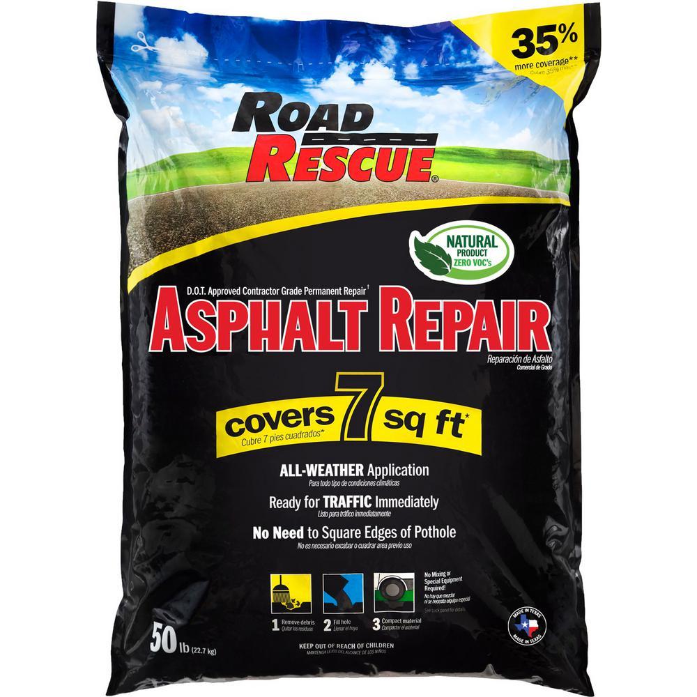 Road Rescue 50 Lbs Asphalt Repair Ap 50 The Home Depot