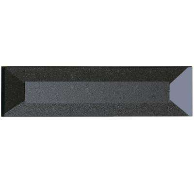Secret Dimensions Gray 2 in. x 8 in. Beveled Glass Wall Tile (9-Pack)