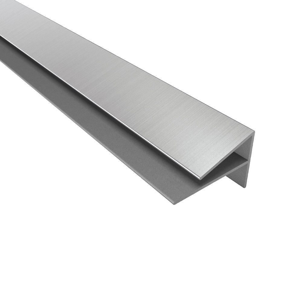 Fasade 4 ft. Large Profile Outside Corner Trim in Brushed Nickel