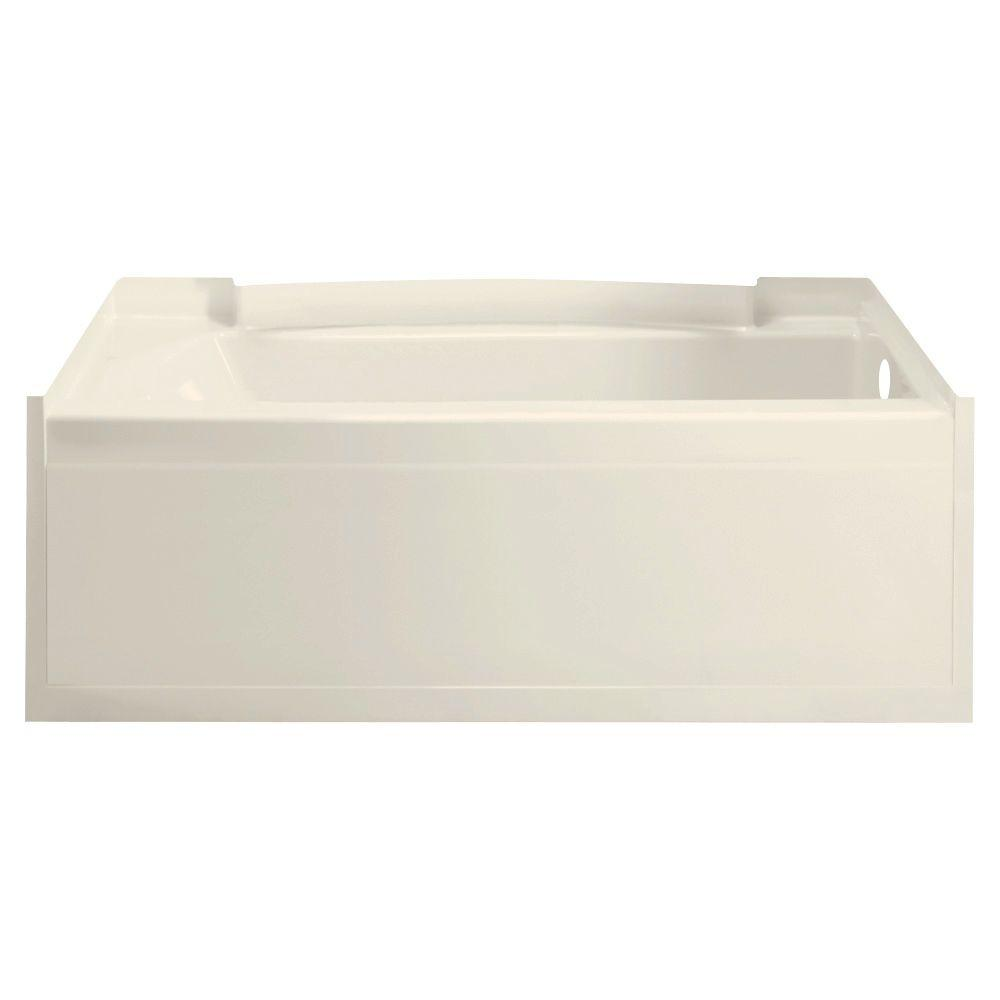 null Accord 5 ft. Right Drain Soaking Tub in Biscuit-DISCONTINUED