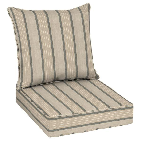 Oak Cliff 24 x 24 Sunbrella Cove Pebble Deep Seating Outdoor Lounge Chair Cushion