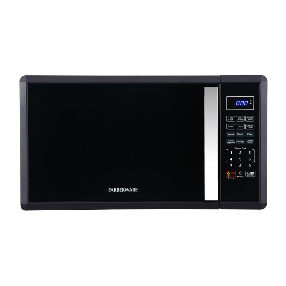 1.1 Cubic Foot 1000 Watt Countertop Microwave Oven in Soft Touch