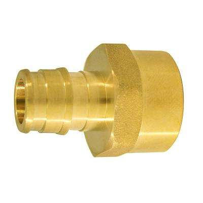 1/2 in. Brass PEX-A Expansion Barb x 1/2 in. FNPT Female Adapter (10-Pack)