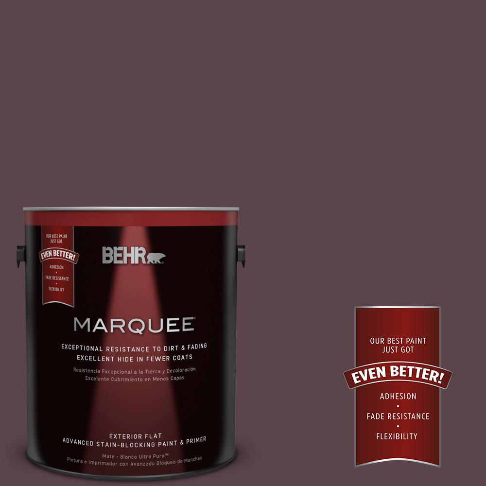 BEHR MARQUEE Home Decorators Collection 1-gal. #HDC-CL-07 Dark Berry Flat Exterior Paint